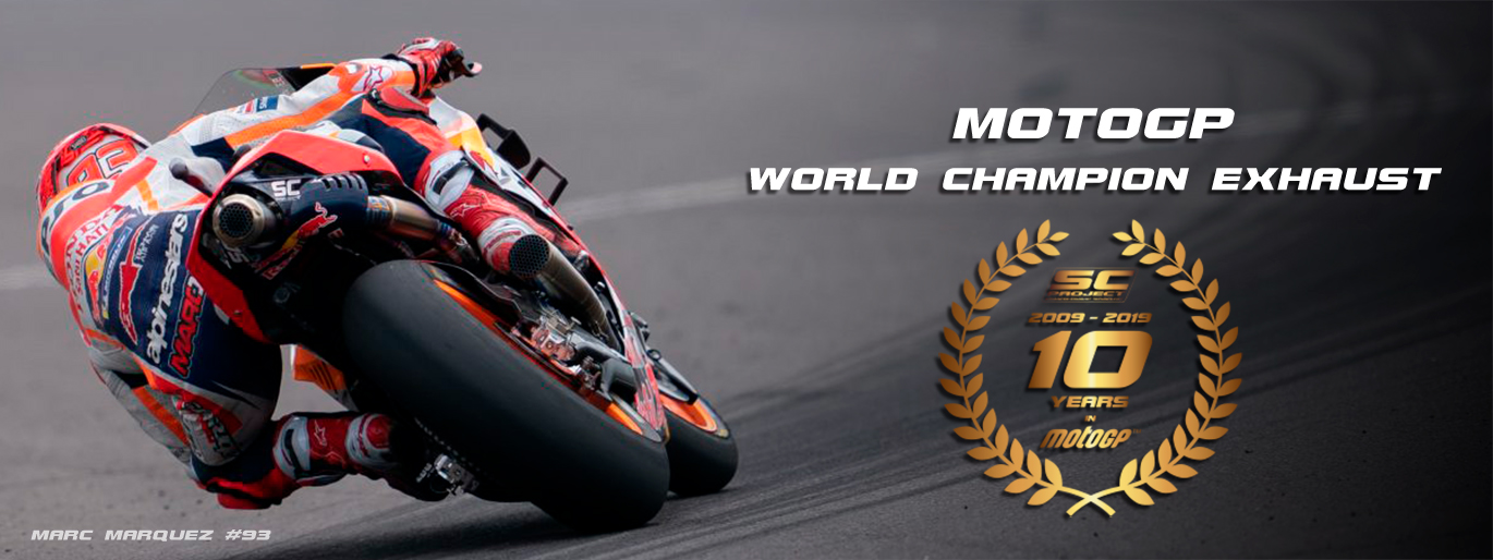 banner marquez motogp world champion exhaust