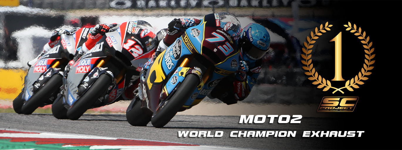 banner moto2 world champion exhaust